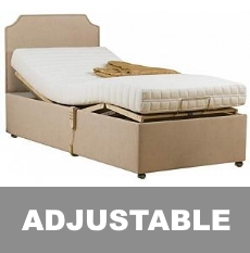 adjustable beds - 2ft6 to 6ft, available with and without a mattress, also has mattress