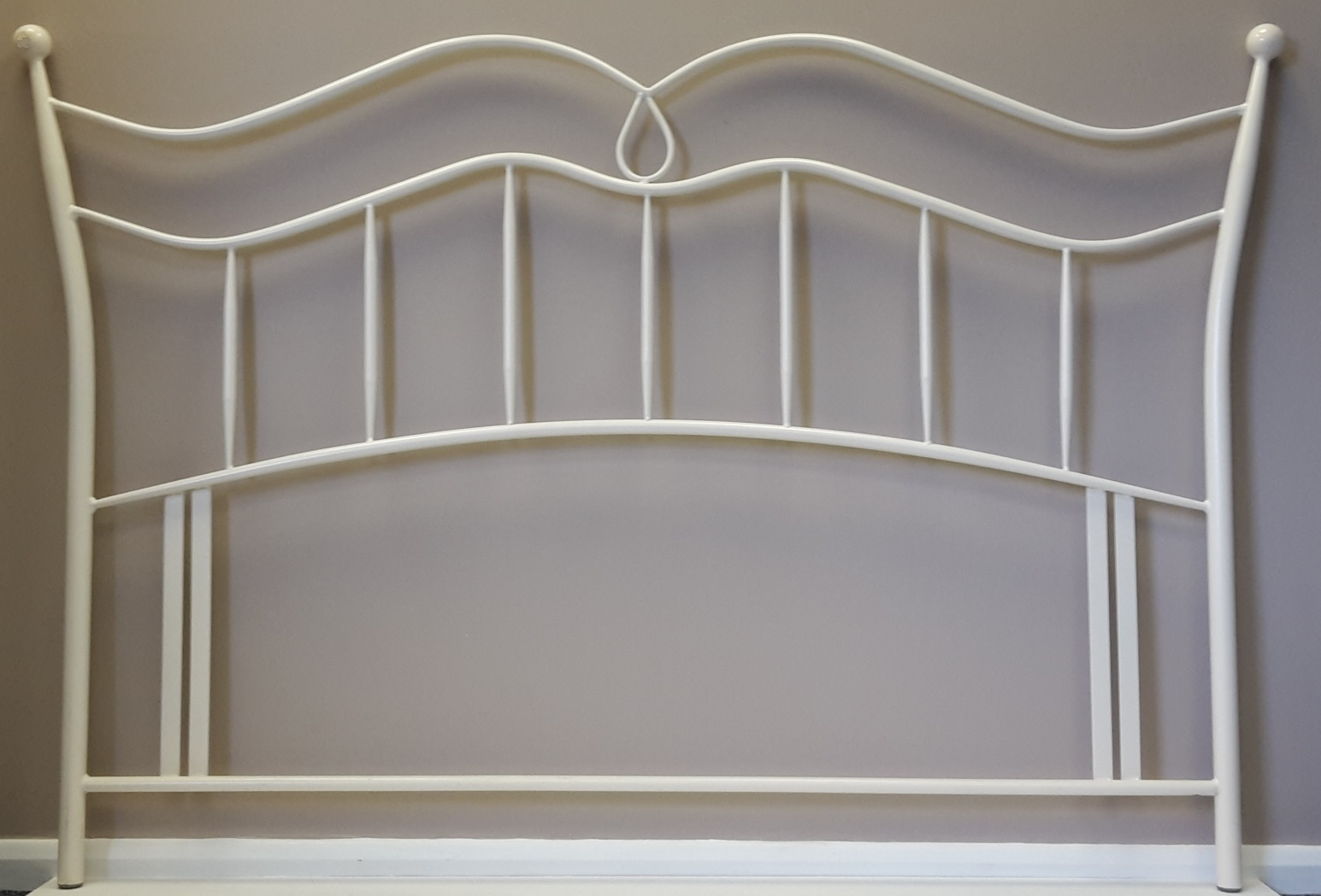 5ft Hannah Ivory White Headboard