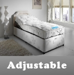 adjustable beds - 2ft6 to 6ft, available with and without a mattress, also has adjustable beds mattress