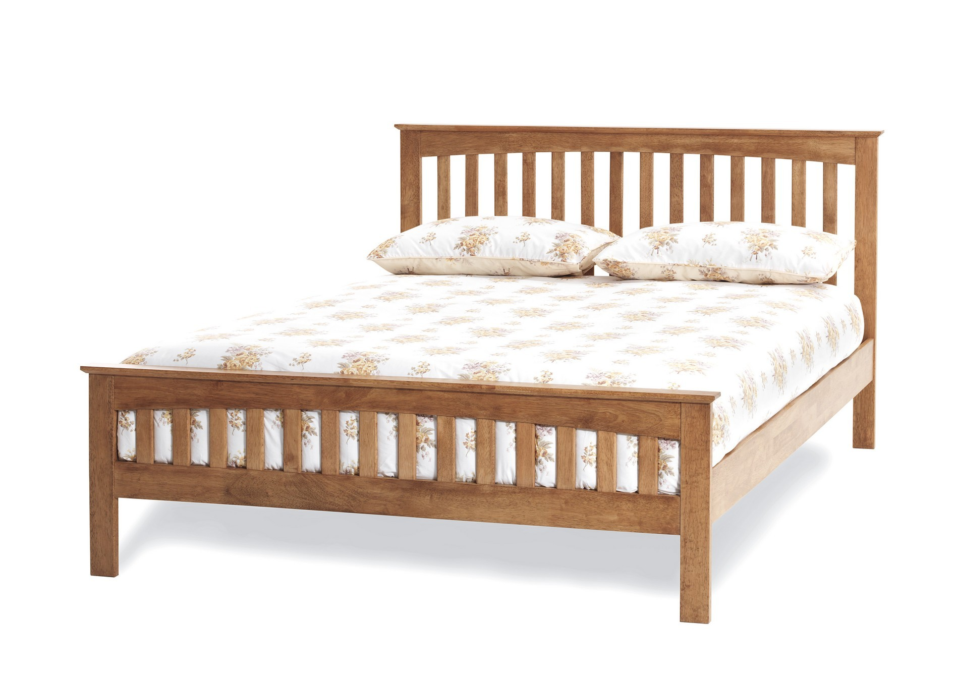 5ft King size Leah Oak finish wood frame bedstead