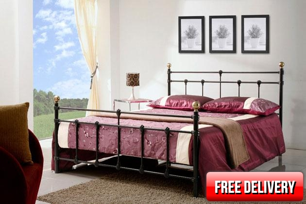 4ft Small Double Atlantic Black Bed Frame
