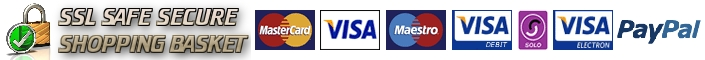 we accept mastercard, visa, masetro, visa debit, solo, visa electron through our ssl secure checkout