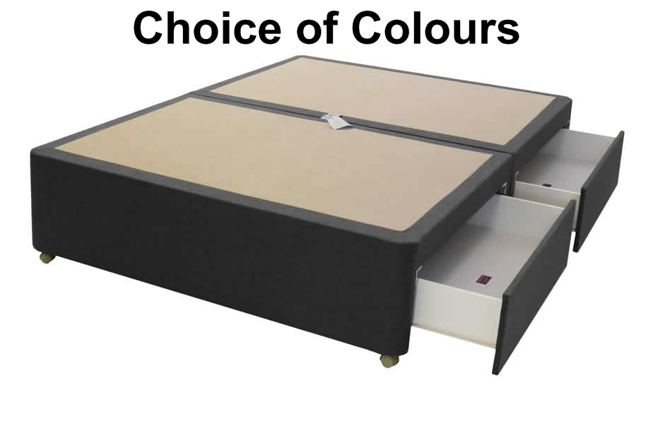4ft6 Clacton 4 Drawer Storage Divan Bed Base Only