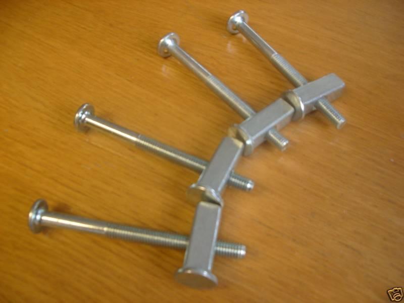 4 Metal bunk/Bed Bolts