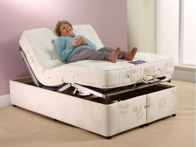 4ft Small Double Diamond Pocket Adjustable Bed