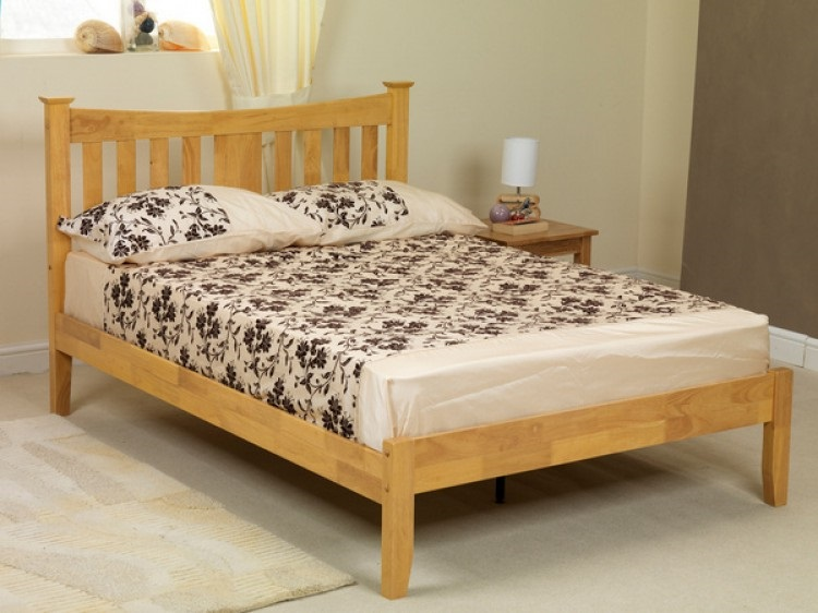 4ft Small Double Arkley Oak Finish Wood Bed Frame