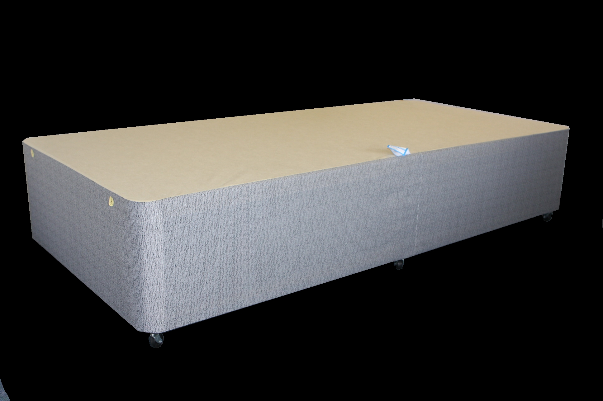 2ft6 Small Single Comfort Grey Damask Non Storage Divan Bed Base Only