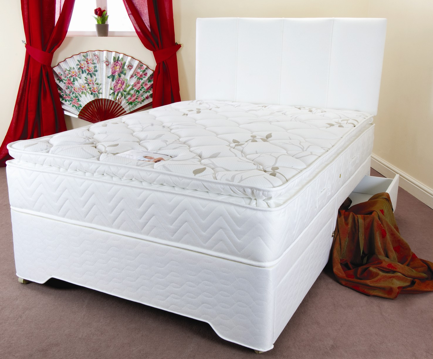 6ft Platinum Pocket Divan Set