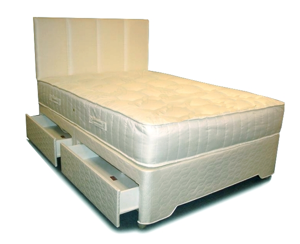 4ft Small Double Silver Zoned Pocket Divan Set