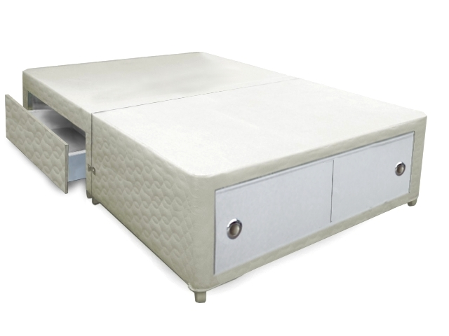 4ft Small Double Buckingham Slider+2 Conti Drawer Divan Bed Base Only