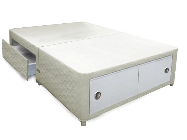 5ft Buckingham Slider + 2 Drawer Divan Bed Base Only