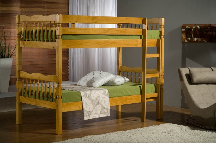Excellence Wooden Bunk Bed with mattresses