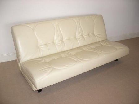 Beds Direct Cream Leather Sofabed