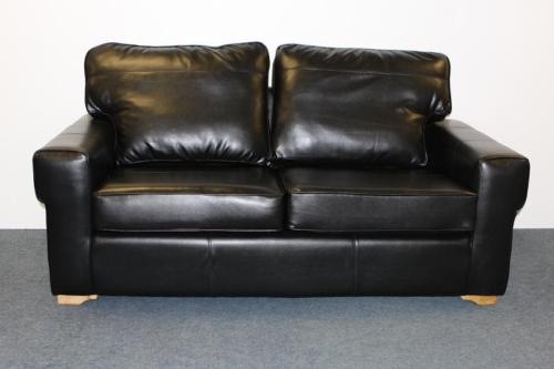Calahari Black Faux Leather metal action sofabed