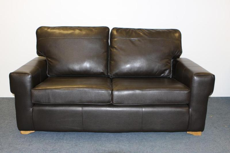 Calahari Brown Faux Leather metal action sofabed