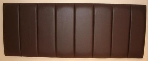 4ft Small Double Brown Deluxe Faux Leather Headboard
