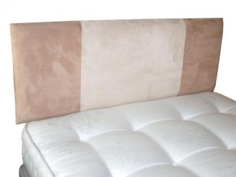 5ft Coffee & Cream Faux Suede Headboard