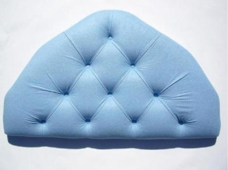 2ft6 Small Single Cornflower Blue Velour Headboard