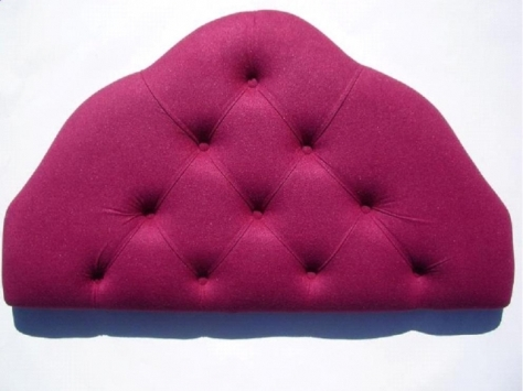 4ft Small Double Maroon Velour Headboard