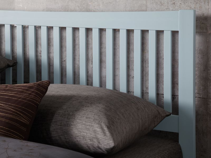 5ft King size May grey wood frame bedstead