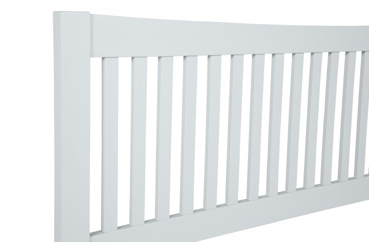 4ft small double May white wood frame bedstead