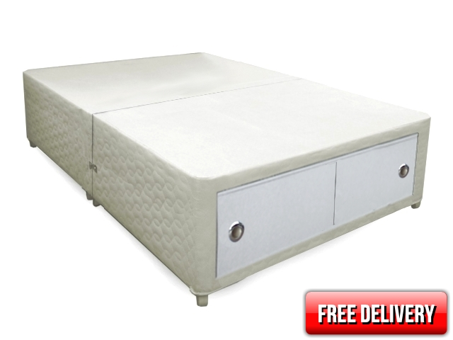 4ft Small Double Belgravia Slider Storage Divan Bed Base Only