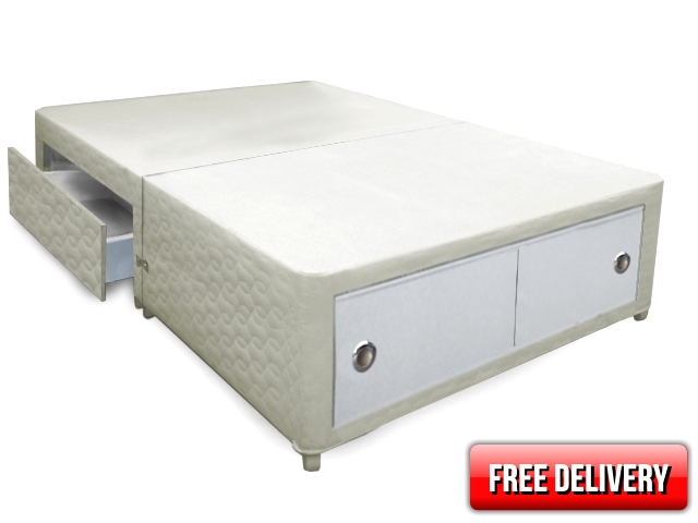 4ft Small Double Belgravia Slider+2 Drawer Divan Bed Base Only