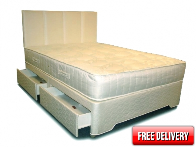 4ft Small Double Simone Zoned Pocket Divan Set